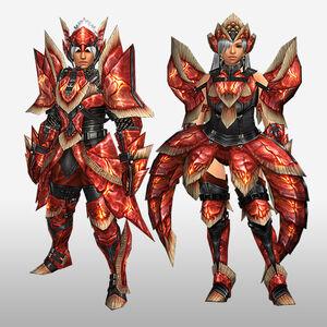 FrontierGen-Dikuto Armor (Blademaster) and Diretto Armor (Gunner) (Front) Render