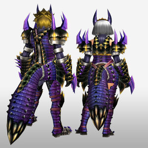 FrontierGen-Kemoru Armor (Both) (Back) Render