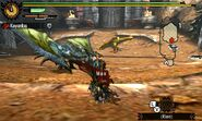 MH4U-Azure Rathalos and Gold Rathian Screenshot 001