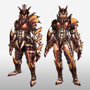 FrontierGen-Paria Armor (Gunner) (Front) Render