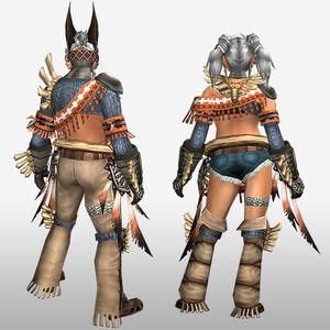 FrontierGen-Kukubo Armor (Blademaster) (Back) Render