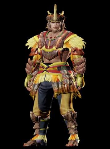 File:MHO-Yellow Caeserber Armor (Blademaster) (Male) Render 001.png