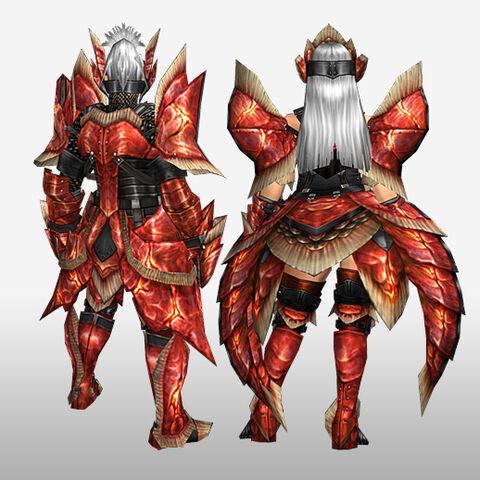 File:FrontierGen-Dikuto Armor (Blademaster) and Diretto Armor (Gunner) (Back) Render.jpg