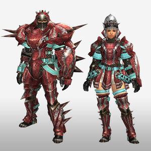 FrontierGen-Zazami G Armor (Gunner) (Front) Render
