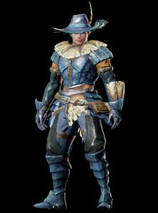 MHO-Blue Kut-Ku Armor (Gunner) (Male) Render 001