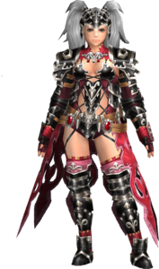 FrontierGen-Amista Armor (Female) (Both) (Front) Render 001