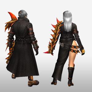 FrontierGen-Espina U Armor (Gunner) (Back) Render