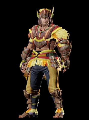 File:MHO-Yellow Caeserber Armor (Gunner) (Male) Render 001.png
