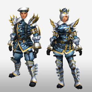 FrontierGen-Sabeji G Armor (Blademaster) (Front) Render