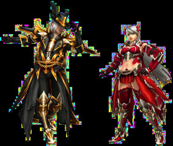 File:FrontierGen-Moonlit Gun Prodigy and Crimson Bow Demon Armor (Both) Render 2.png
