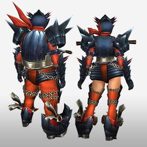 FrontierGen-Guren G Armor (Blademaster) (Back) Render