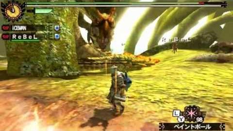 Monster Hunter 4 Nubcakes 17 - Najarala (custom hammer set) English commentary online gameplay