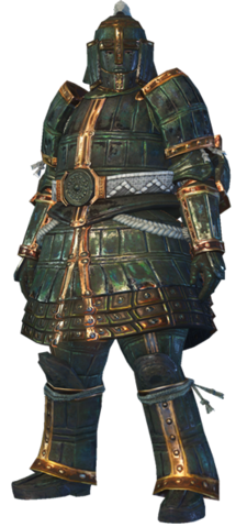 File:MHO-Shen Gaoren Armor (Blademaster) (Male) Render 001.png