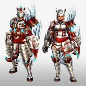 FrontierGen-Disu G Armor (Gunner) (Front) Render