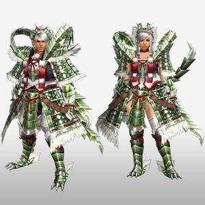 FrontierGen-Haukusu Armor (Both) (Front) Render
