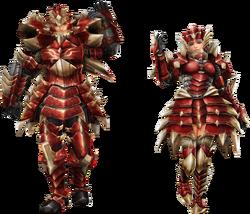FrontierGen-Odiba Armor (Blademaster) Render 2