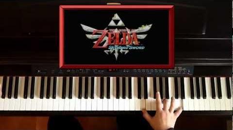 Zelda Skyward Sword - Ballad of the Goddess - Trailer on Piano
