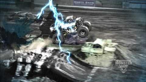 Monster Jam - Monster Jam- Path of Destruction - Blue Thunder Monster Truck Highlights