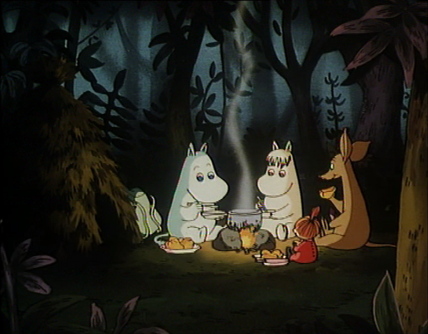 File:Moomintroll, Sniff, Little My & Snorkmaiden.png