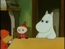 Little My, Sorry-oo and Moomintroll.