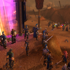 Facing down the Horde in the Barrens.