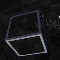 The minilights are hidden by a hyperglass block, but their glow can still be seen