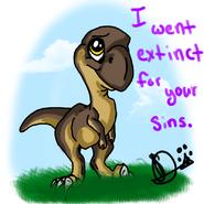 Chibi Raptor Jesus by HinaUchi-1-