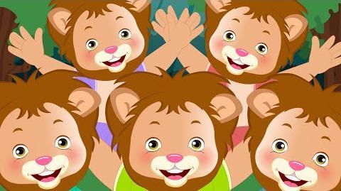 Five big lions