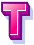 WallScrawl Alphabet - T