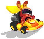 Meelisselim Moshi Karts orange