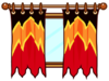 Flame curtains