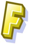 WallScrawl Alphabet - F