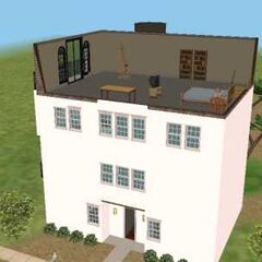 The fourth floor of The Boy's Condo recreated in <i>The Sims 2</i>. It is where <a href=