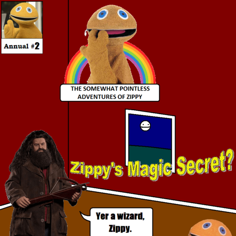 In the second Annual special, Zippy goes to Magic land and saves it after discovering that he is a wizard. In the end it is all revealed to have been a Broadway Musical.