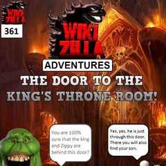 Deathrock9 and Slimer are taken to the door that leads to the King's throne room.