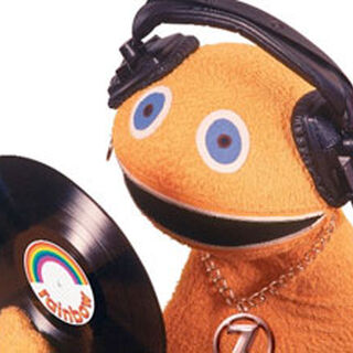 Zippy admiring his first ever record he produced.