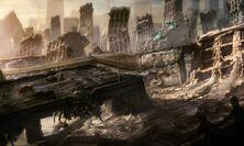 Motorstorm apocalype conceptart bridge