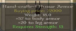 Hand-crafted Hussar Armor