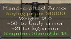 Hand-crafted Armor