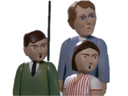 The Fat Controller's family (Lady Hatt, Bridget and Stephen)