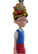 Lewis in Carmen Marinda hat