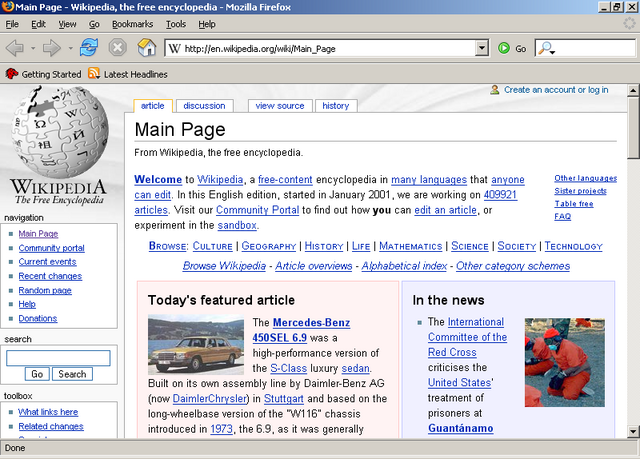 File:Mozilla Firefox 1.0 front page screenshot.png