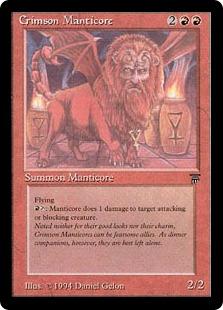 Crimson Manticore Leg-MEd