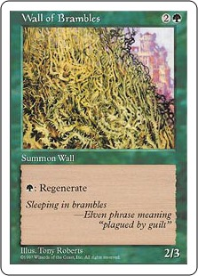 Wall of Brambles 5E