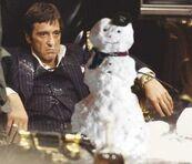 Tony with snowman