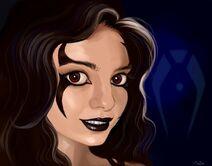 Sereena drawn cutely