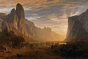 Bierstadt Looking Down Yosemite-Valley 1865
