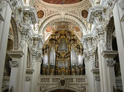 Church pipe organ St Stephen s Cathedral of Passau Germany.