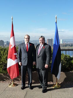 Urmas Paet Canadian Minister of International Trade Peter Van Loan, 2010