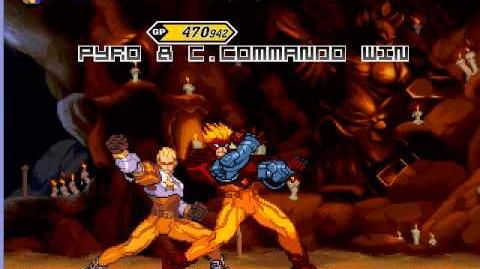 Mugen Arcade Playthrough With Pyro & Captain Commando